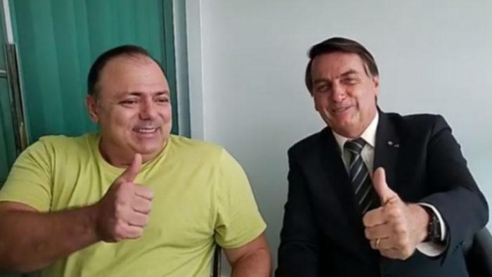 O ministro da Saúde e o presidente da República, responsáveis por um genocídio, segundo Rodrigo Maia